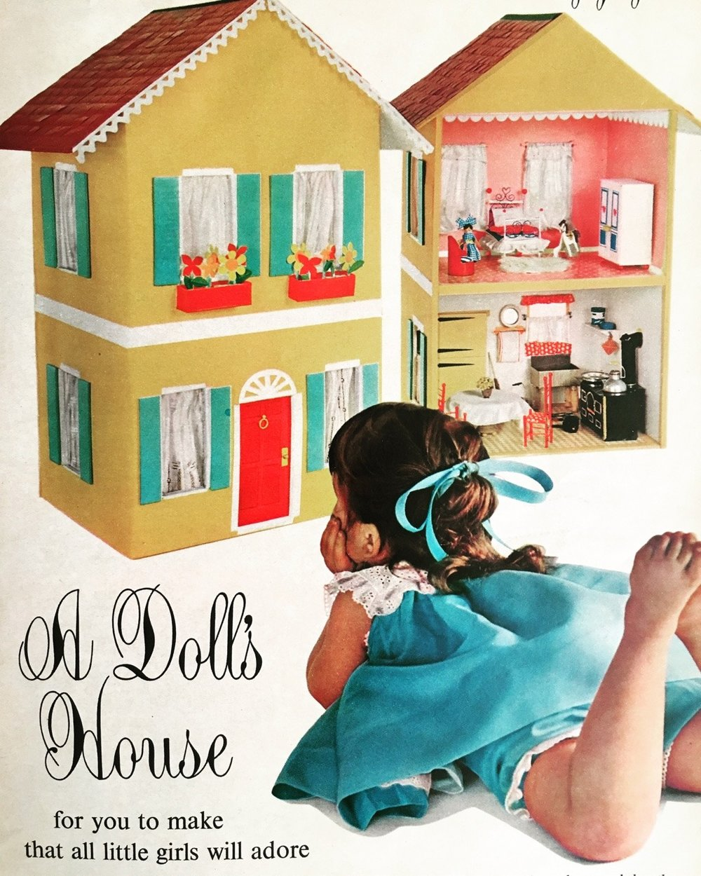 A Doll's House for you to make that all little girls will adore. Woman's Day. July 1961.