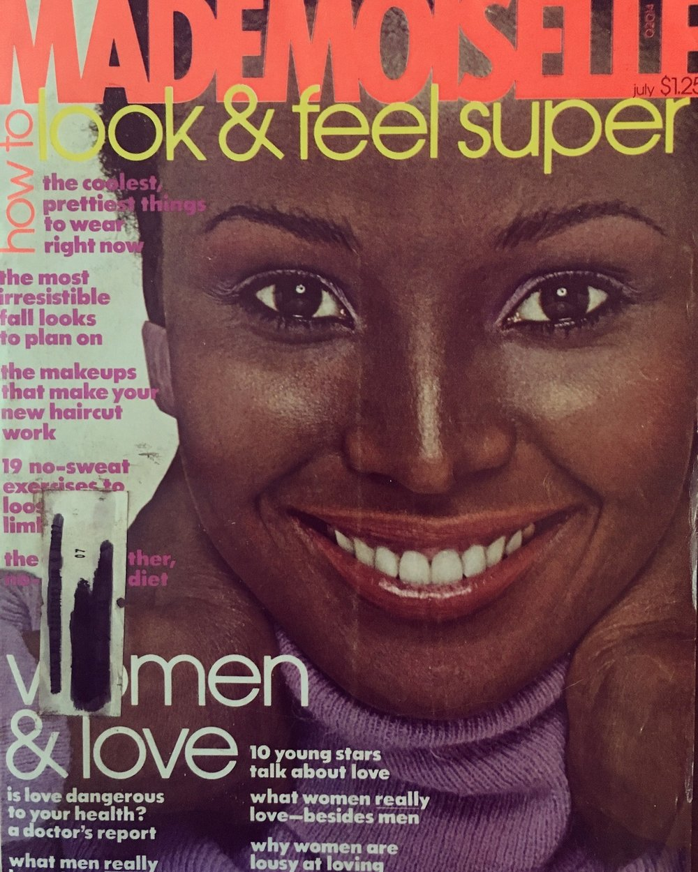 Mademoiselle cover. July 1976   One recent request was to post more black models here, particularly from the   '50s and   '60s, but honestly, that era is quite a bit dry when it comes to diversity. For the most part, fashion magazines were  very  segregated before the mid '60s. In the '70s the doors started opening more from mainstream publications, but even now, there is not as much diversity as one would think. We can do a lot better.