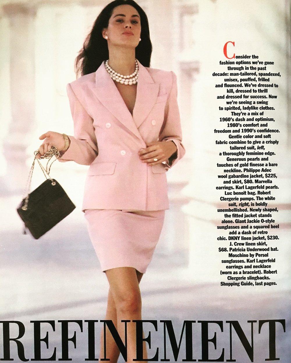 Refinement Redux.  Glamour. June 1990