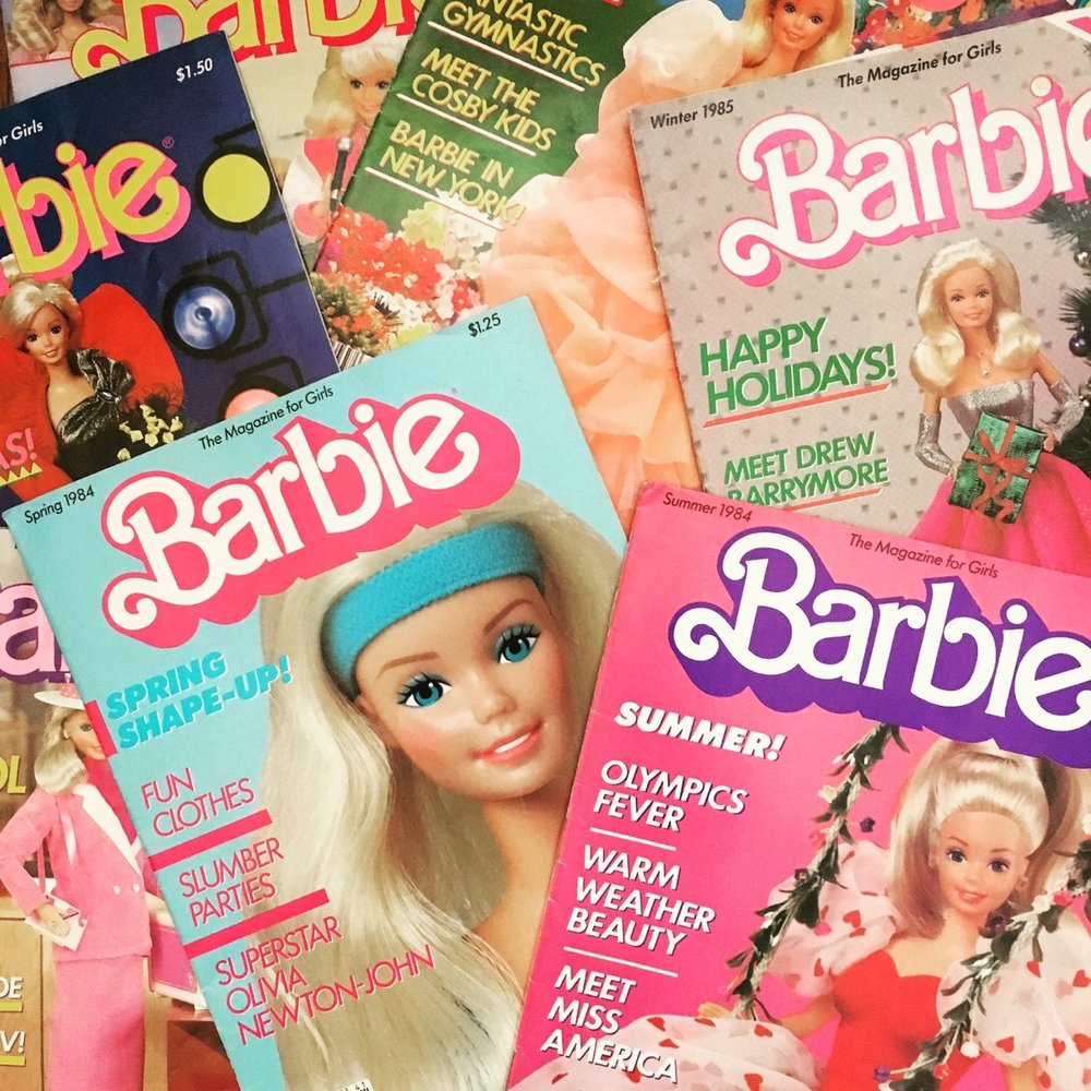Barbie Magazine issues from the mid-80s. This was the very first magazine I had my own subscription to, so of course when I saw these on eBay I had to snap them up.