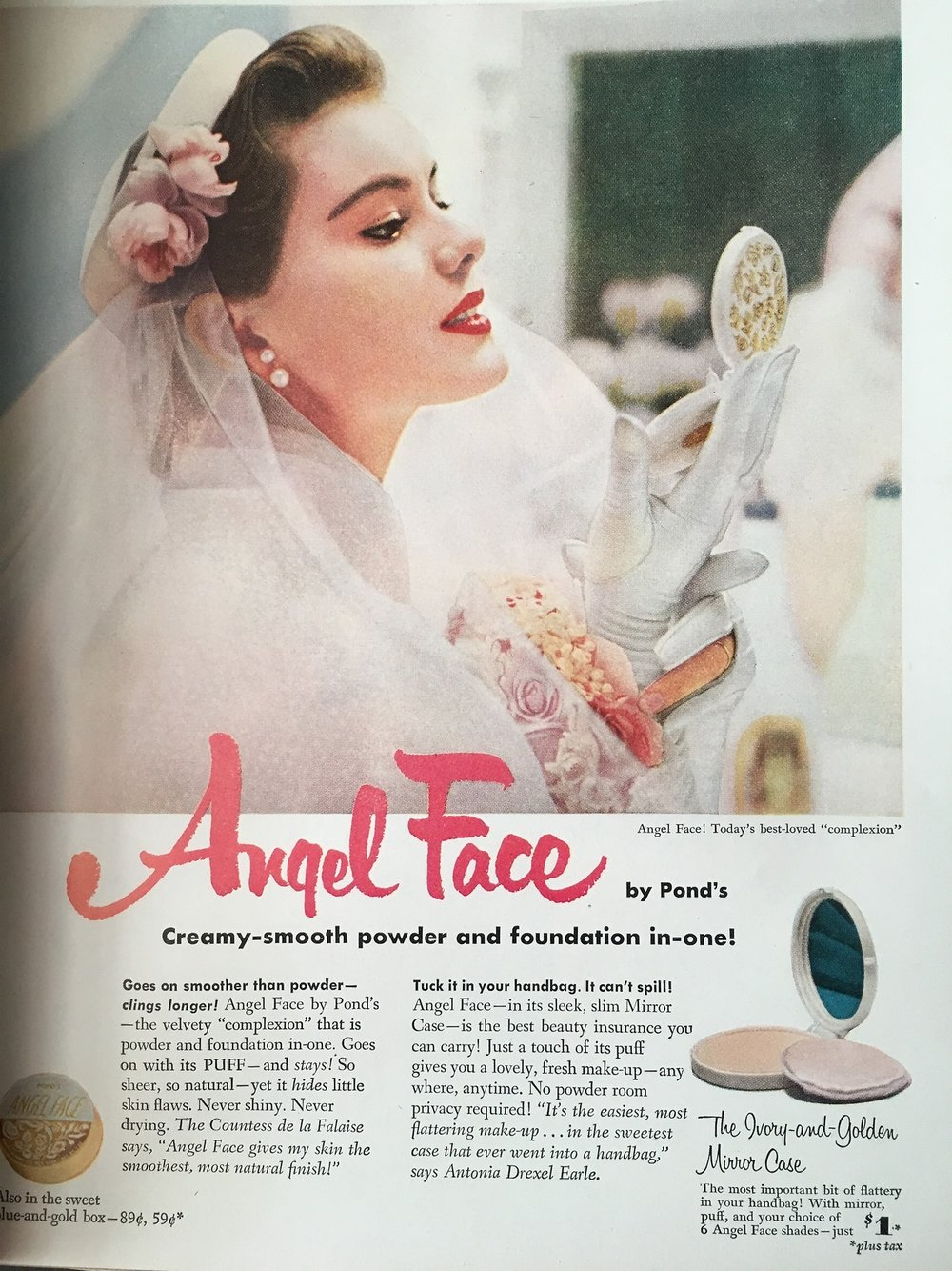 Angel Face by Pond's. True Story. June 1953.