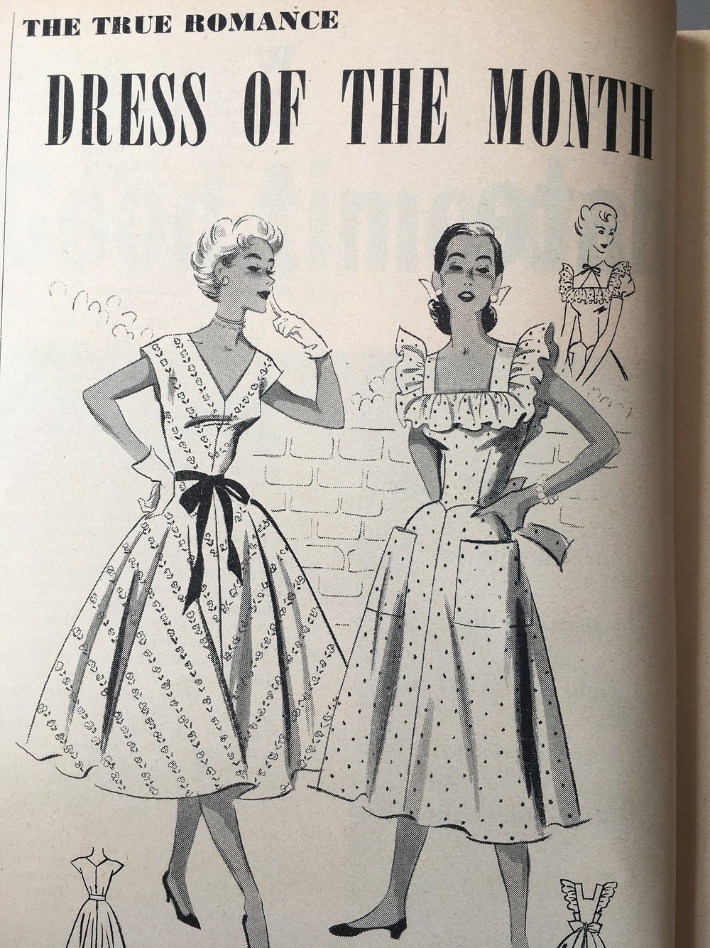 The True Romance Dress of the Month. True Romance. June 1952.
