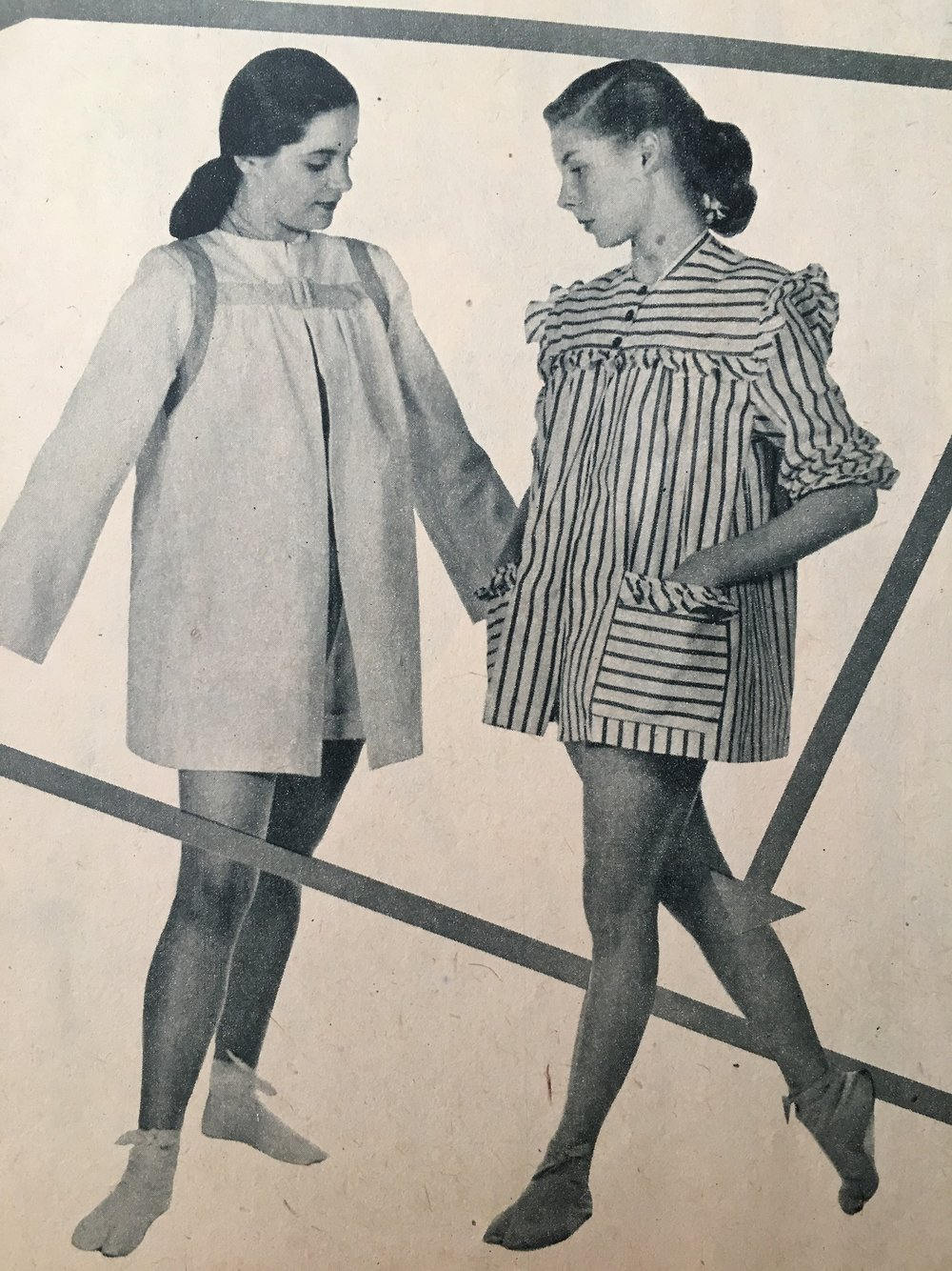 """""""Your best playsuit has a matching coat""""     Calling All Girls. June 1947."""