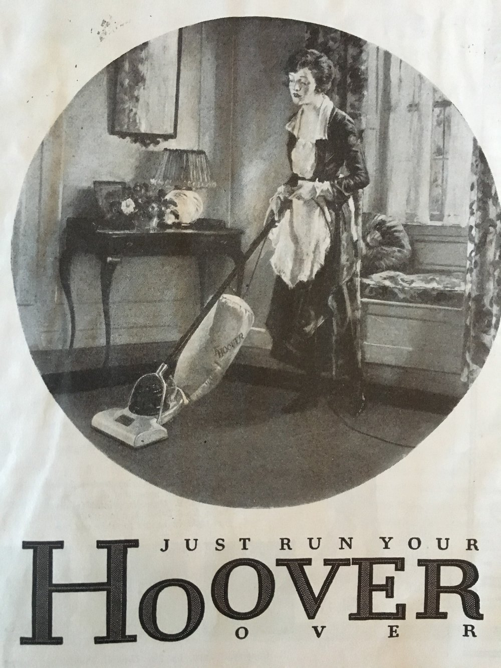 Hoover vacuum. Woman's Home Companion. June 1919.