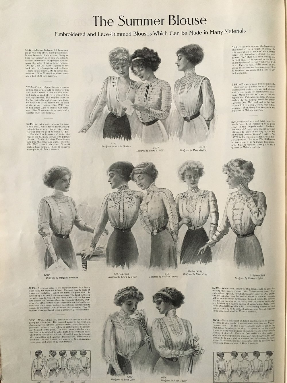 The Summer Blouse. Ladies' Home Journal. June 1910.