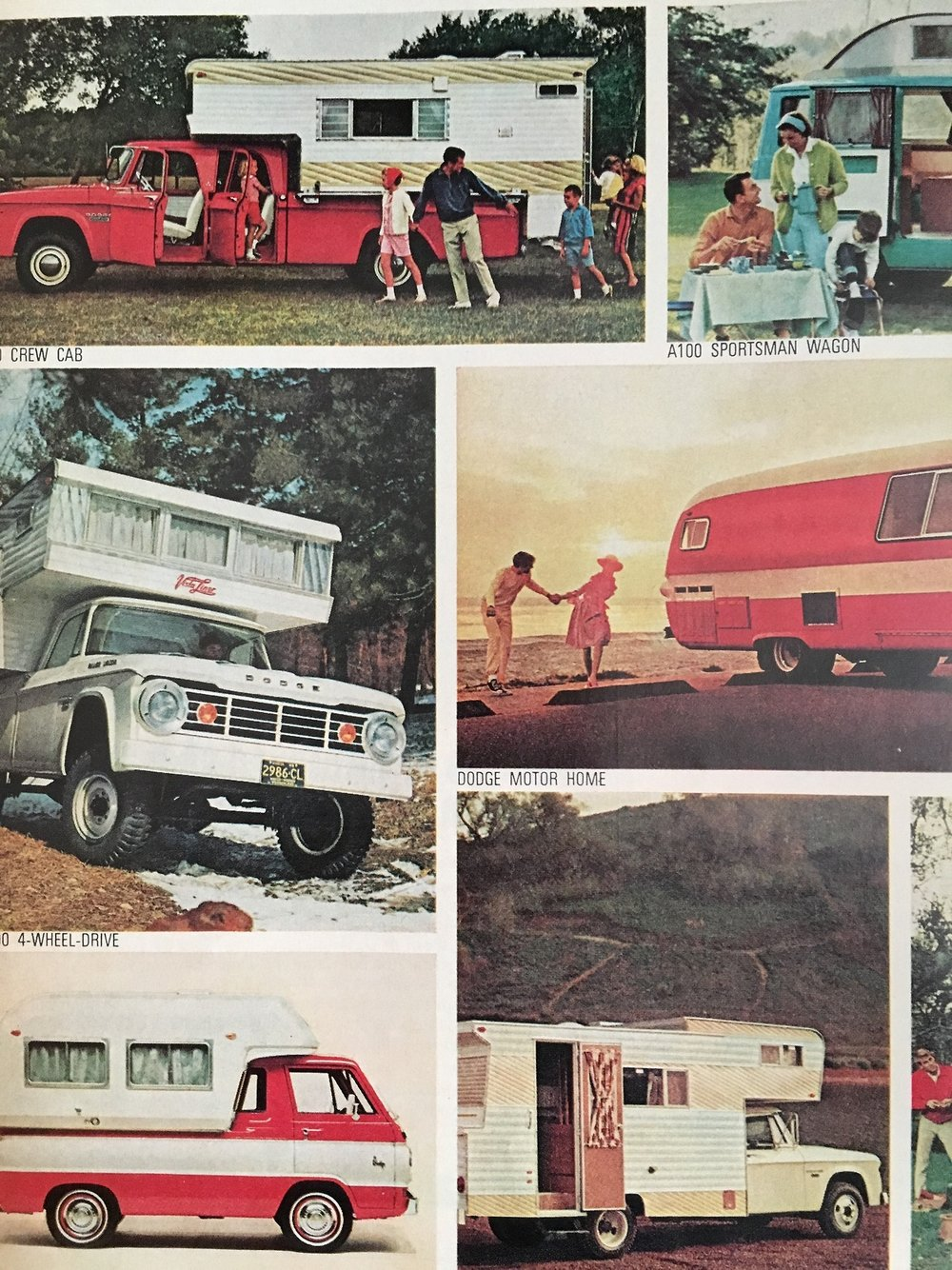 Dodge RV ad.   Better Homes and Gardens. May 1966.     It's time to hit the road!