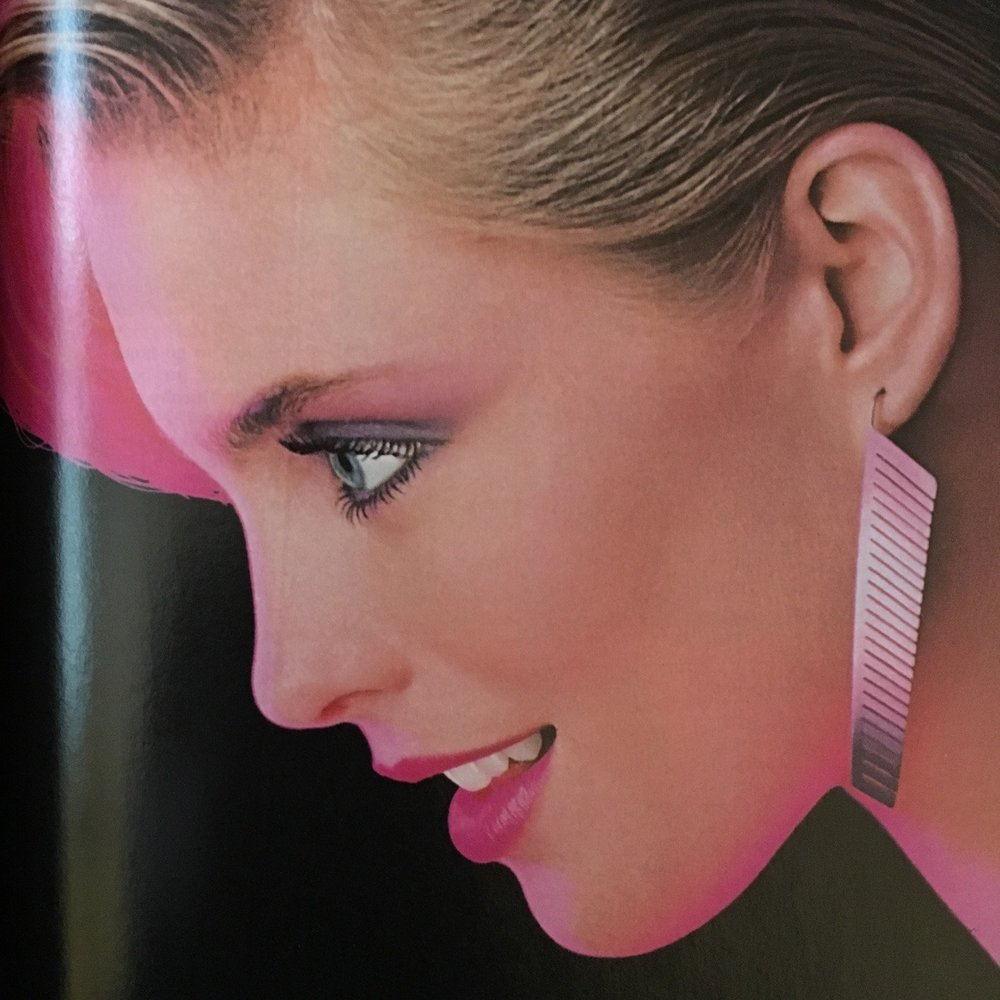 Detail from an ad for Cutex. Cosmopolitan. May 1983.