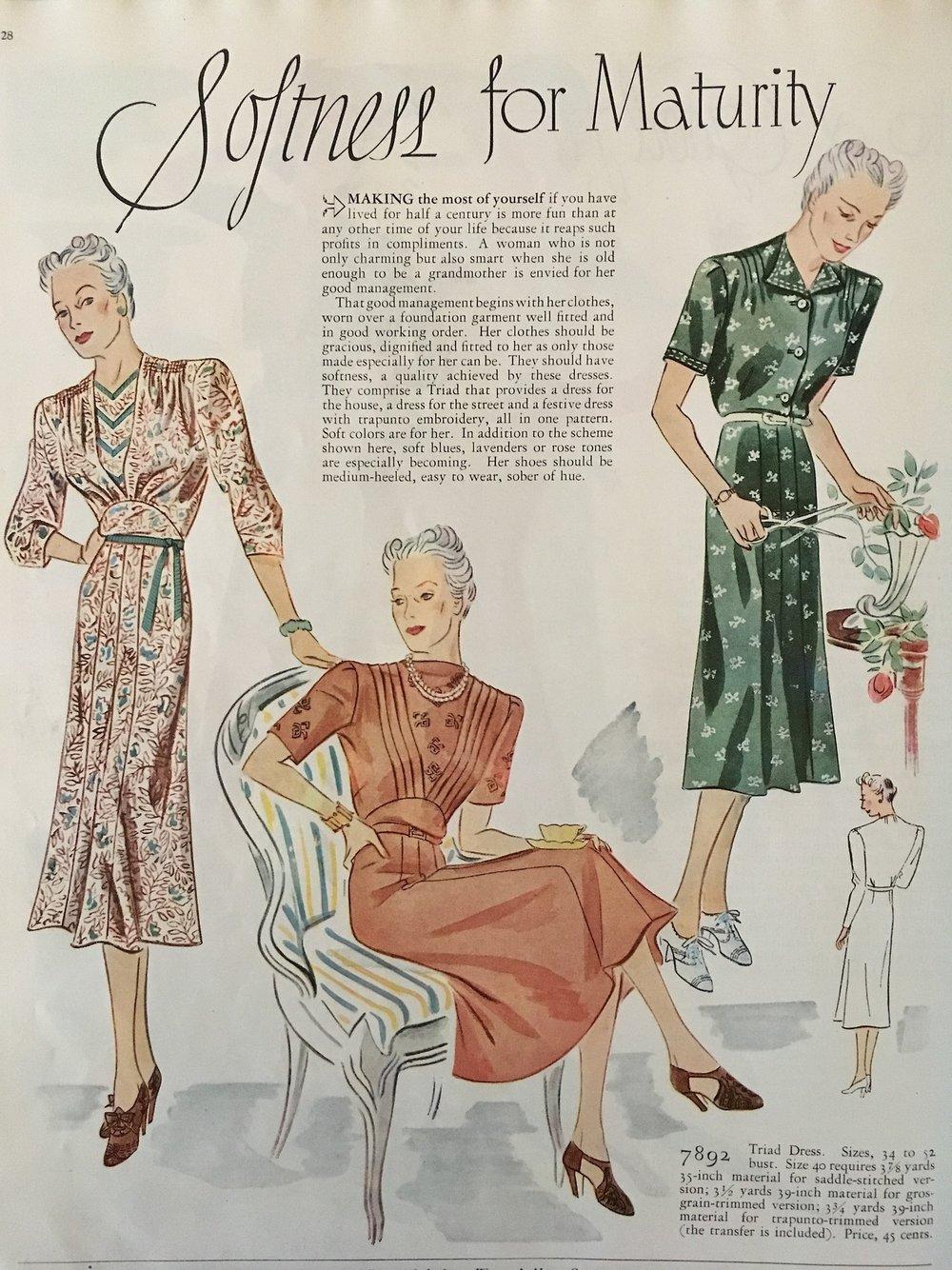 Softness for Maturity. Woman's Home Companion. May 1938.