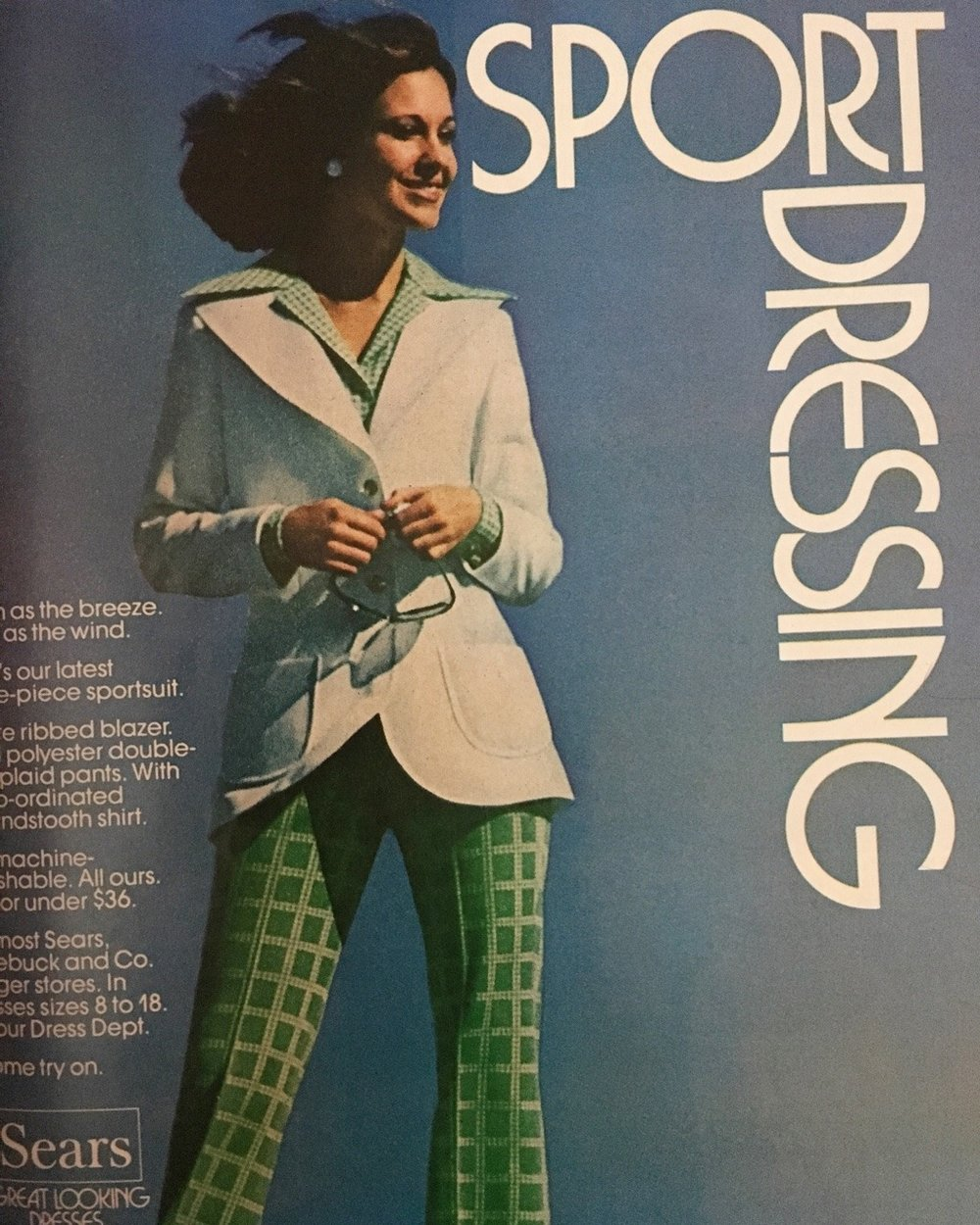 Sport Dressing.   Sears. May 1974.