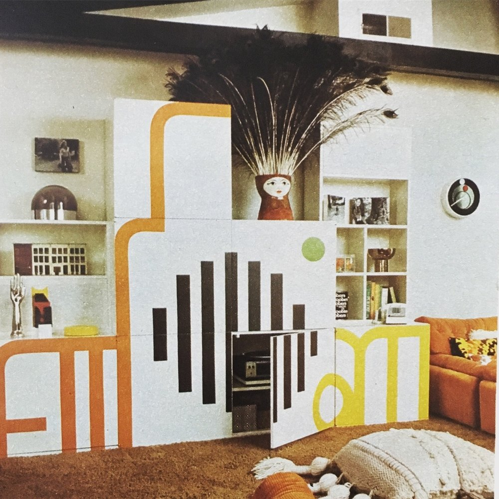 70s home decor. Better Homes and Gardens. May 1974.