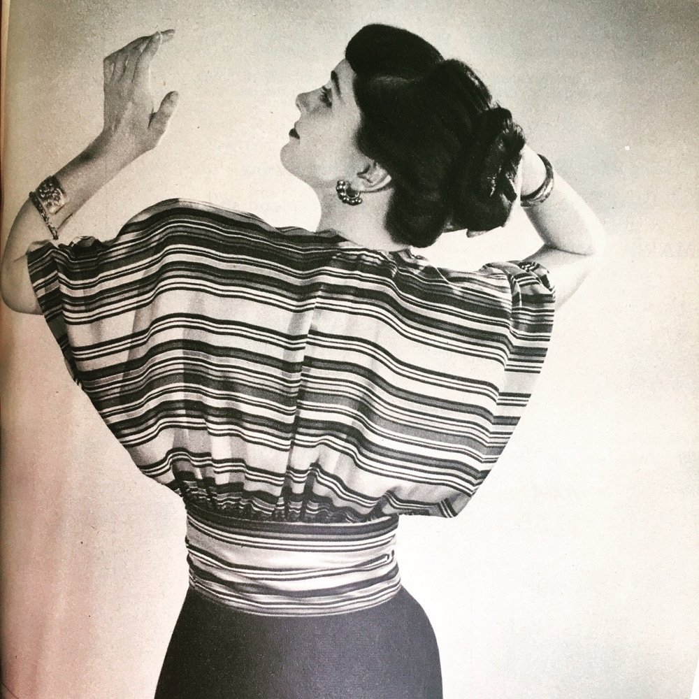 Kimono sleeves. Woman's Day. May 1946.