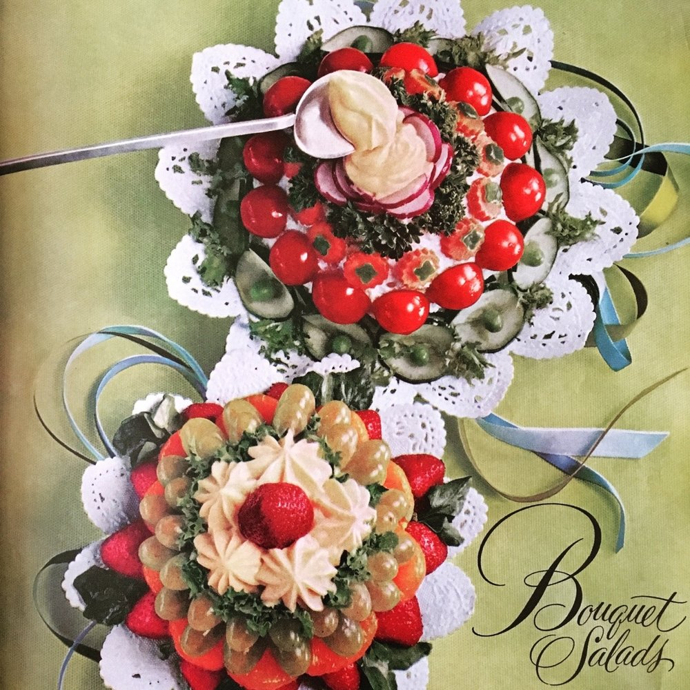 Bouquet Salads. Detail of a Hellmann's ad. Ladies' Home Journal. May 1963.