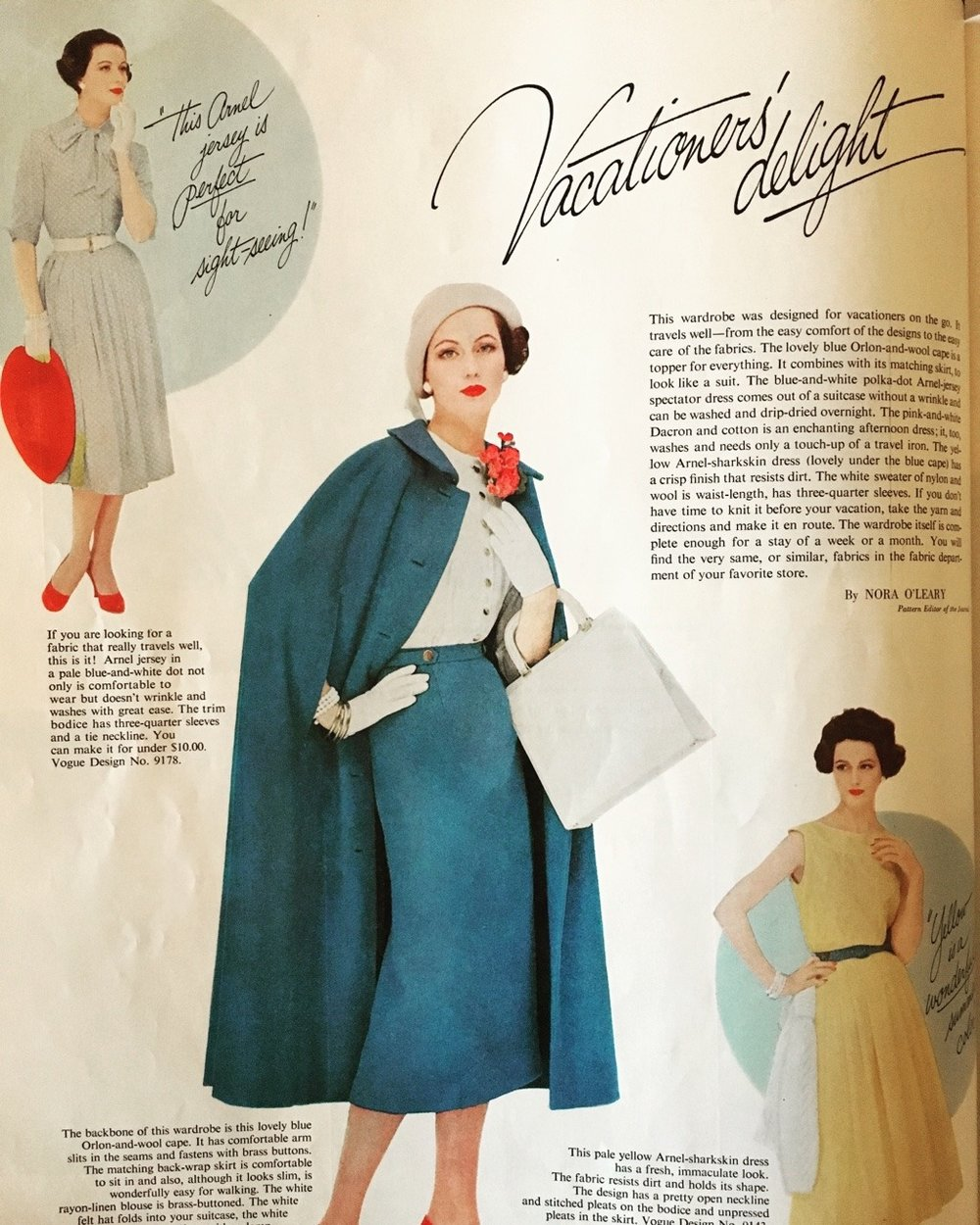 Vacationers' Delight. Ladies' Home Journal. May 1957.