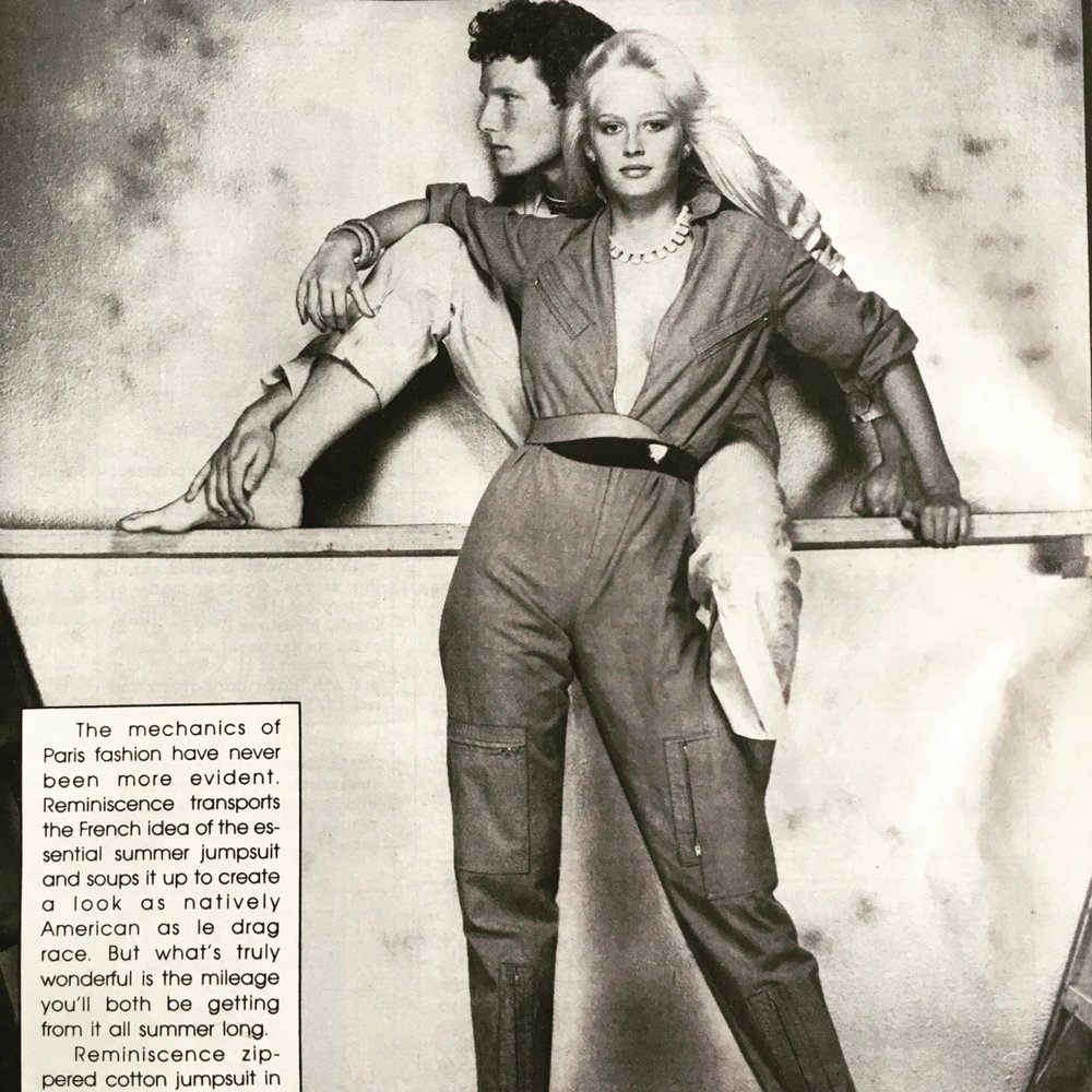 From an ad for Macy's in New York Magazine. May 2, 1980. Gotta love those jumpsuits.
