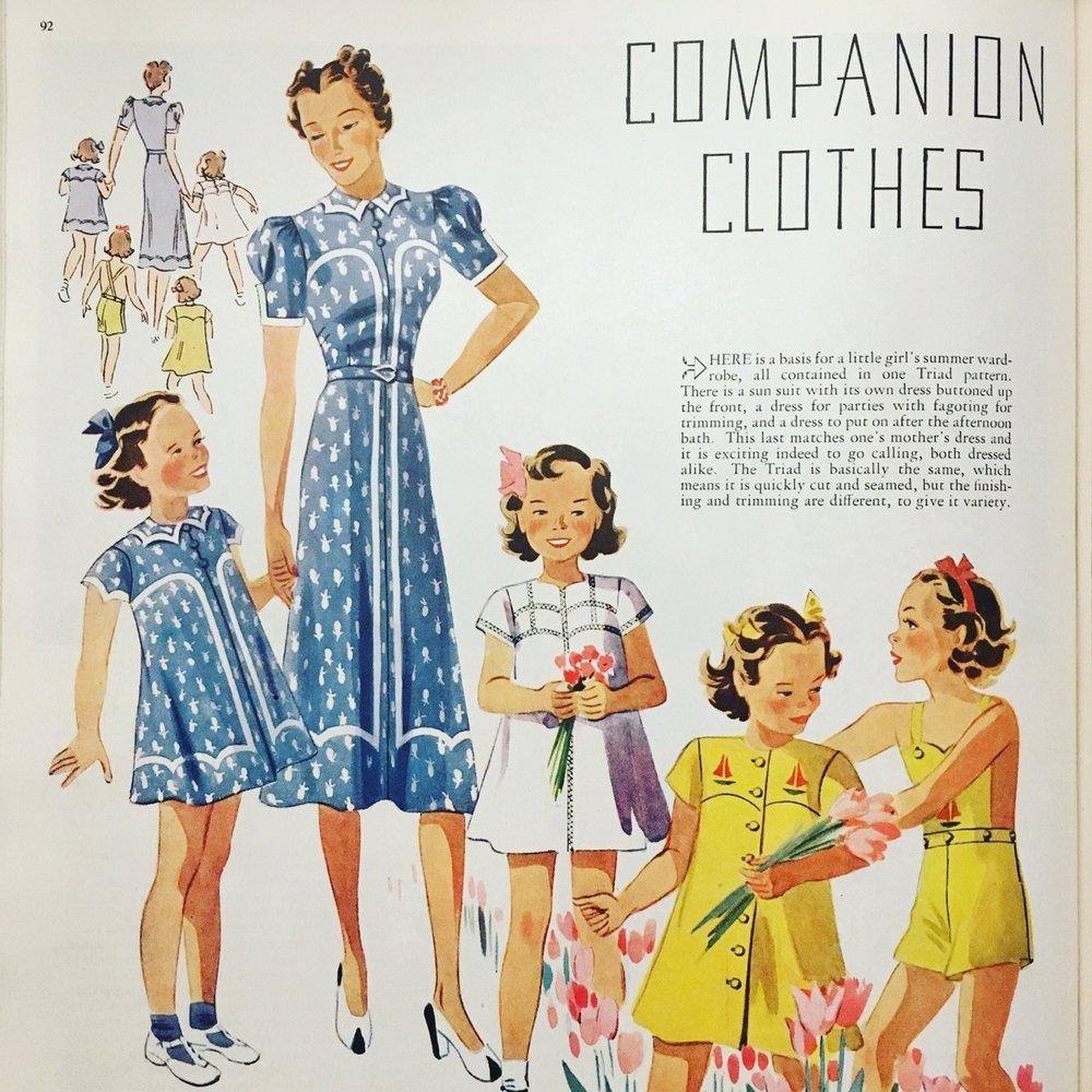 Companion Clothes. Women's Home Companion. April 1938.