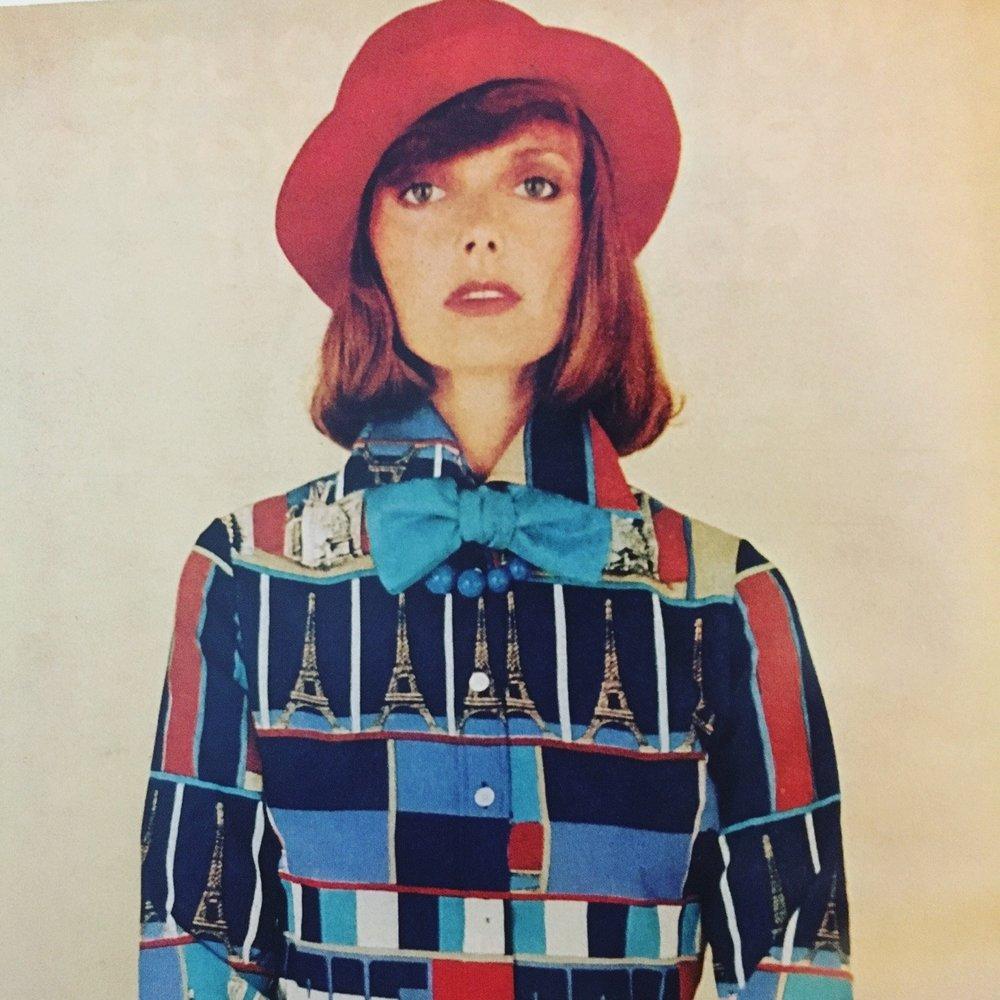 Saint Clair Paris ad. Vogue. April, 1974.