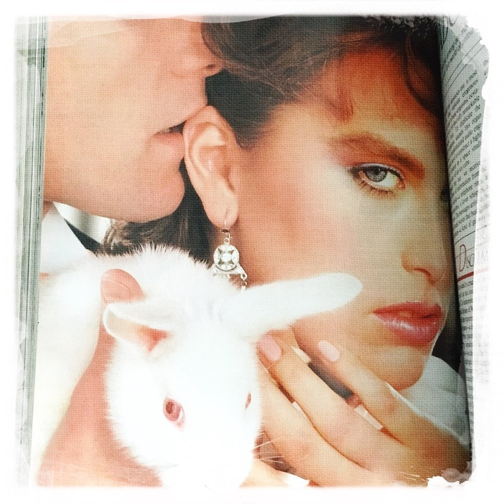 This photo accompanied an article all about ears in the April 1983 issue of Cosmopolitan.