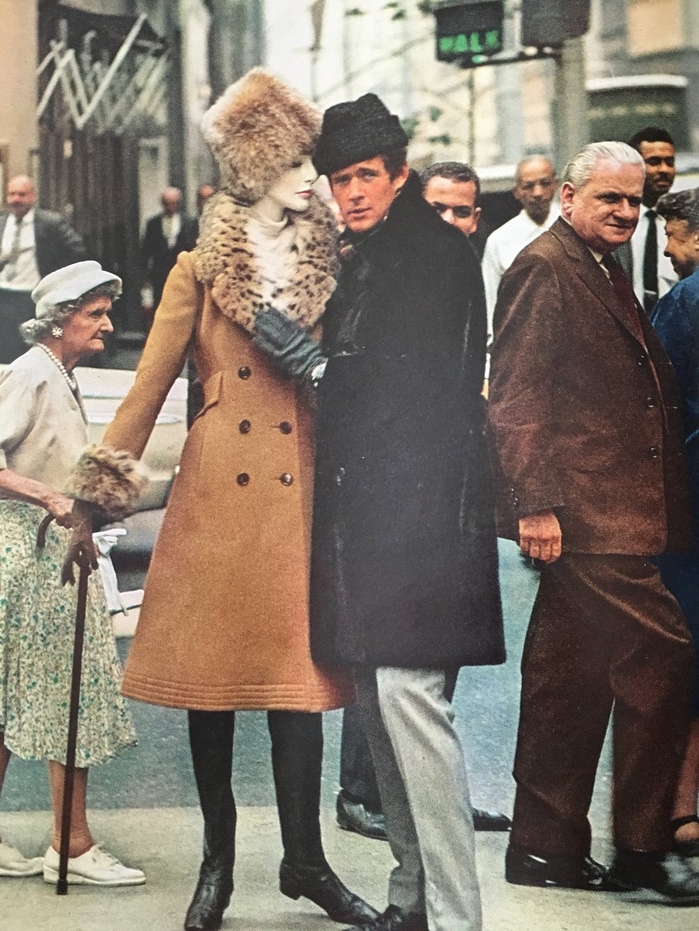 Russian dressing. The doll wears a midi-length camel coat, lynx-trimmed. The guy, a brow seal coat and diplomat hat.