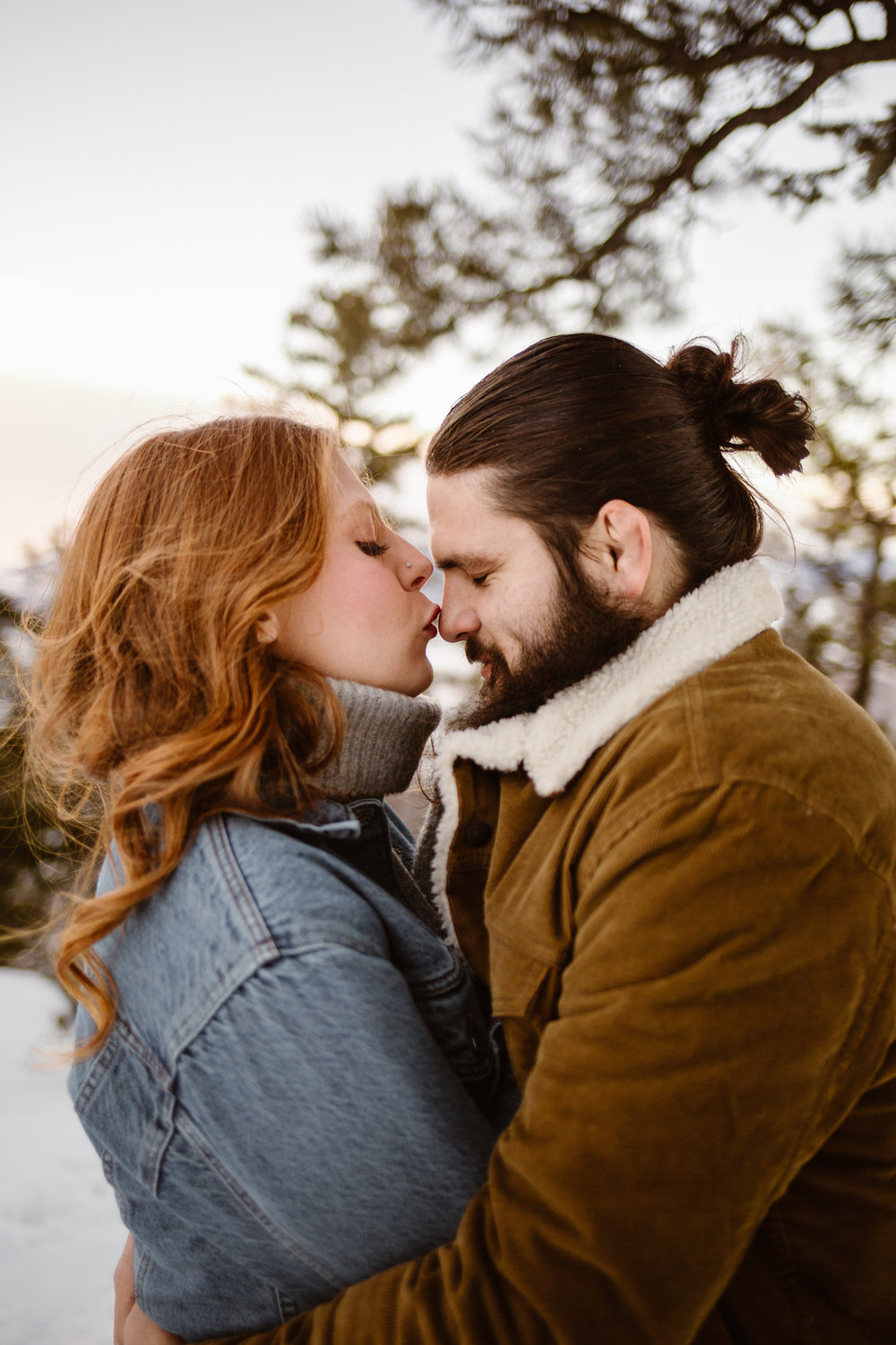 Snowy Mountain Engagement