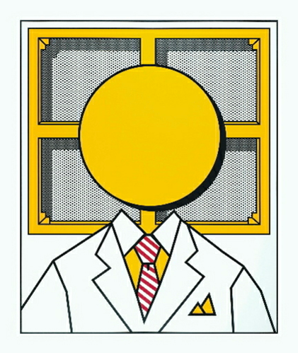 PORTRAIT OF ROY LICHTENSTEIN AS A (YELLOW) BENDAY DOT