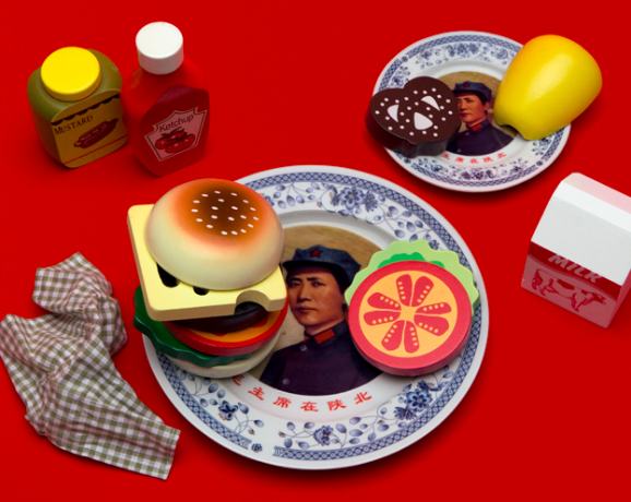 CHEESEBURGER WITH EVERYTHING ON IT & MAO