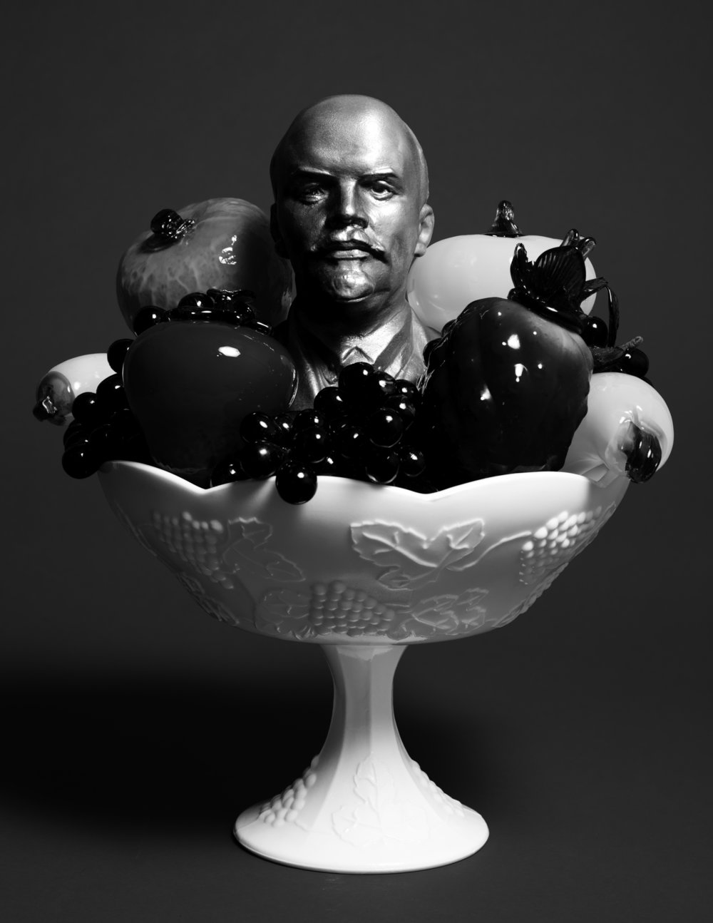 Still Life with Lenin and a Bowl of Fruit