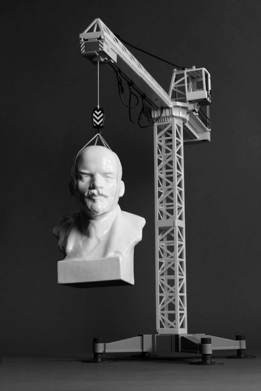 Still Life With Lenin and a Ukrainian Crane