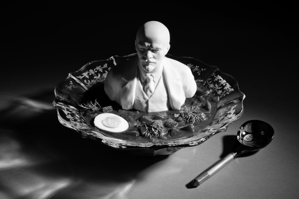 Still Life with Lenin in Borscht