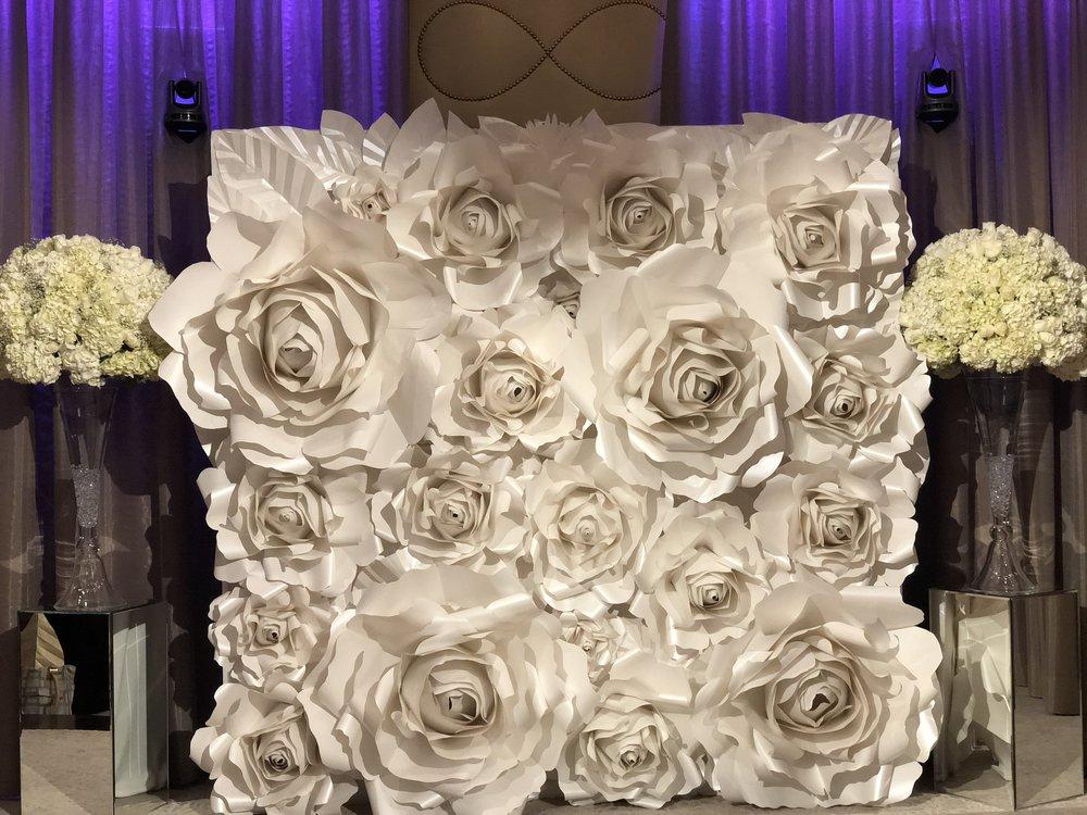 Paper flower backdrops paperflowerwall mightylinksfo