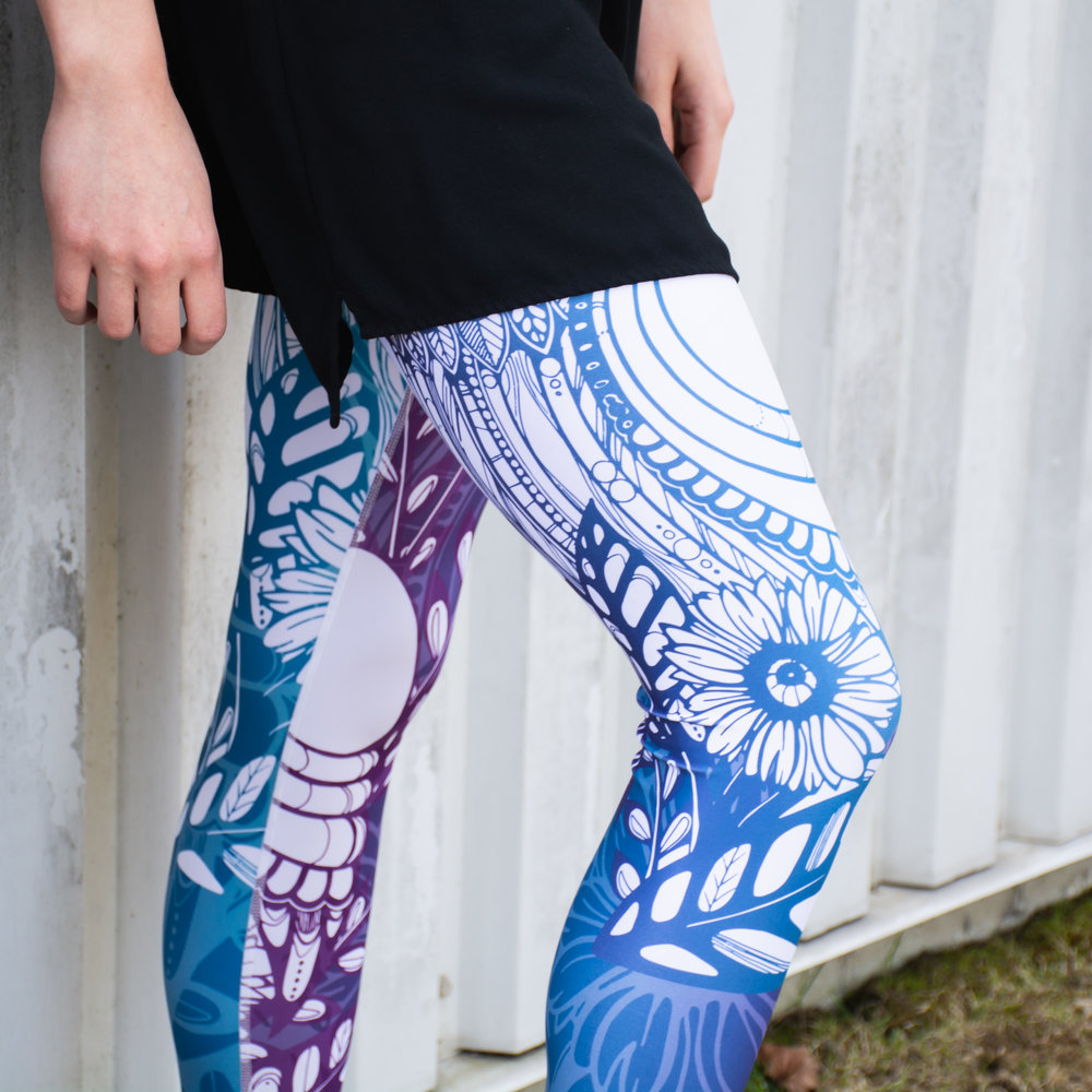 ATHLEISURE - Fashionable athletic wear doesn't have to be disposable or mass- produced. We proudly carry Canadian-made eco-friendly activewear in a variety of fun colours, designs and prints.