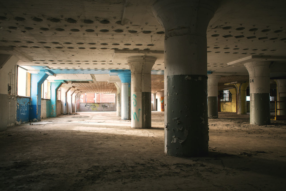 Image of the second floor of the abandoned building