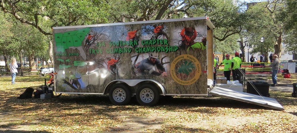 Southern Chapter's  Tree Climbing Championship  Trailer