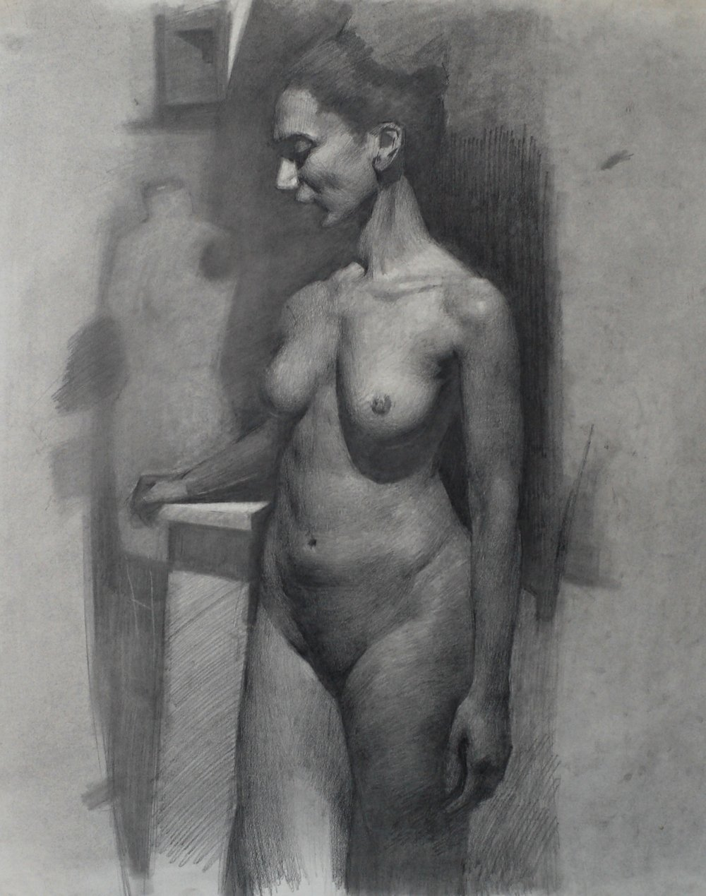 Edmond Rochat Figure Drawing graphite on paper 18x14.jpg