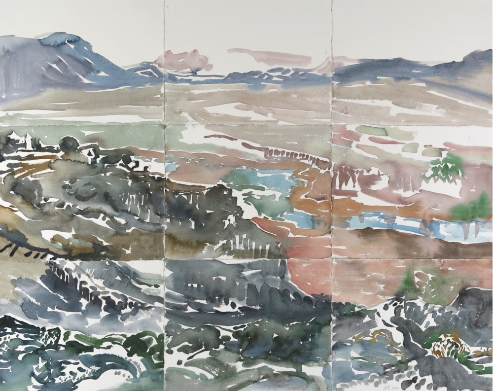 Kamilla Talbot, Thingvellir, 2015, Watercolor, 24 x 30 inches