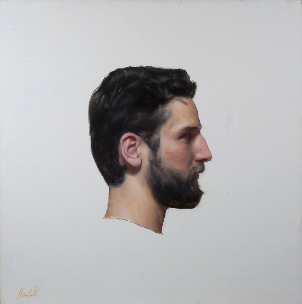 Donat Profile 20x20 oil on linen .JPG