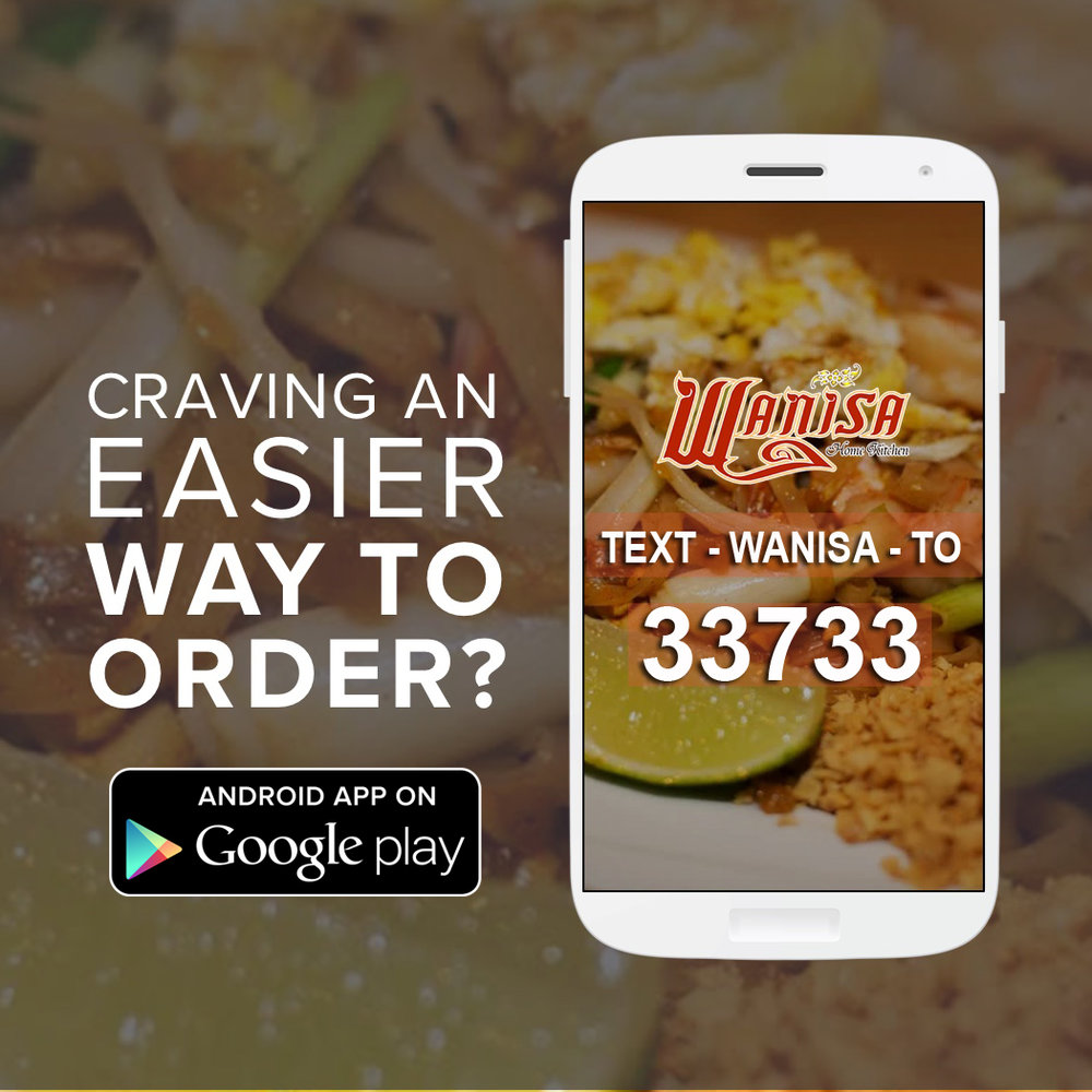 - Placing your next order is easier than ever. Download our new android mobile app from the google play store or simply Text  to 33733 to try it out!