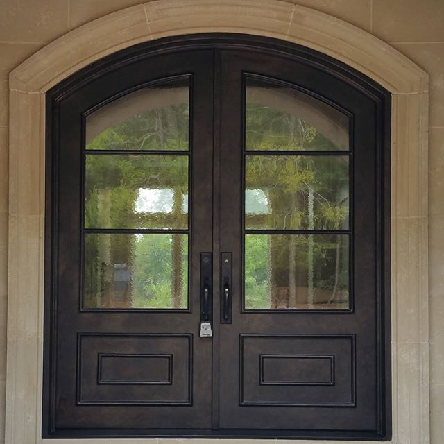 wrought-iron-double-door-german-new-antique-glass. - Steel Doors — TLG Doors & Hardware
