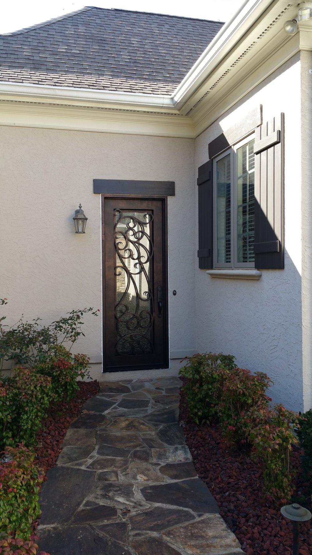 Wrought Iron Garage Access Door