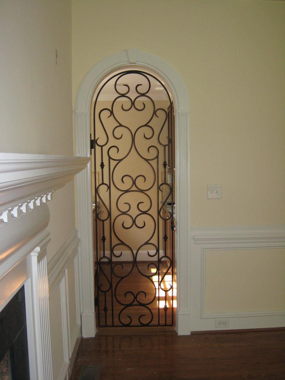 Interior Wrought Iron Gate.JPG