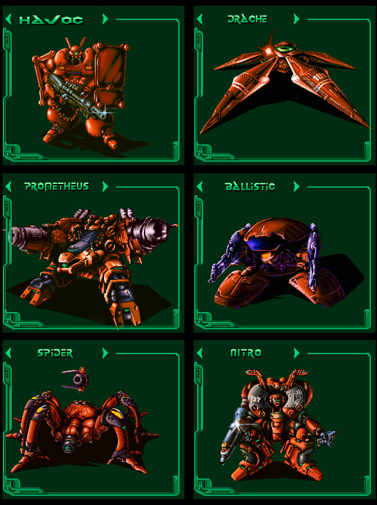 The six mechs