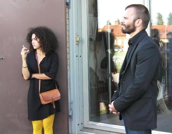 With actor, Mathias Malmgren. Photo credit, Antonio Acevedo.