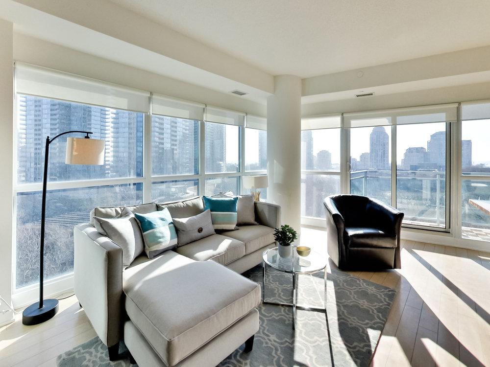 Toronto condo living room