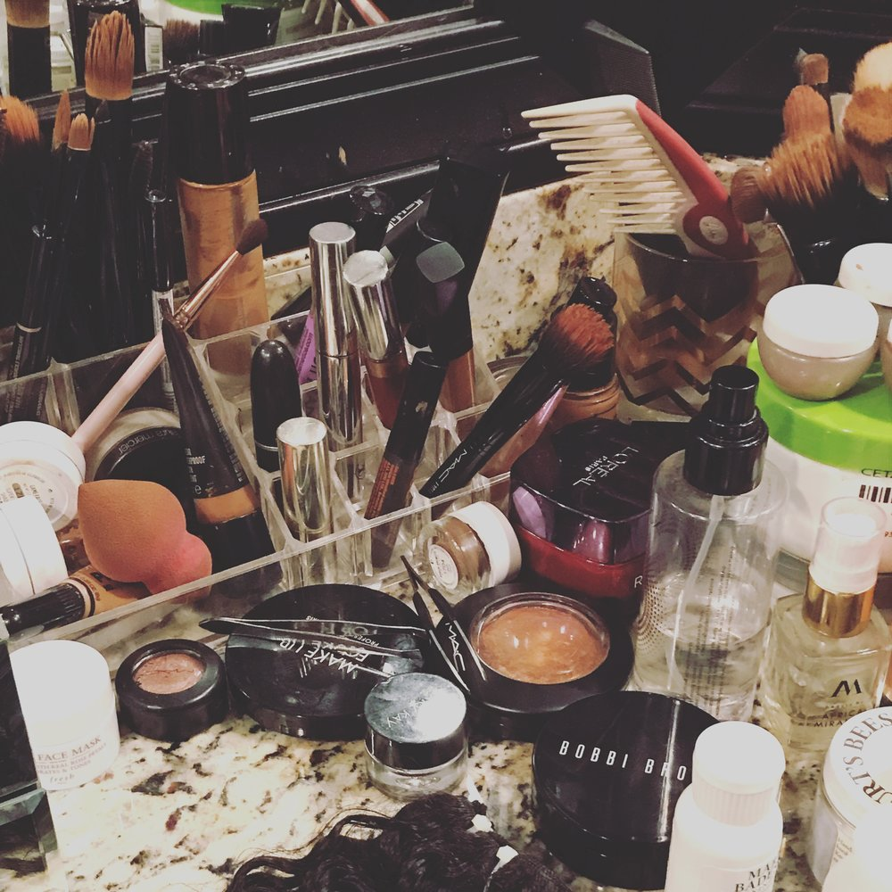 Gabrielle's vanity counter