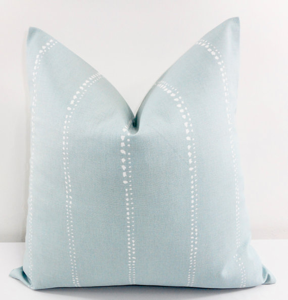 Blue etsy pillows