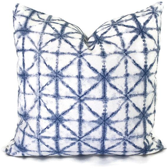 Blue etsy designer pillows