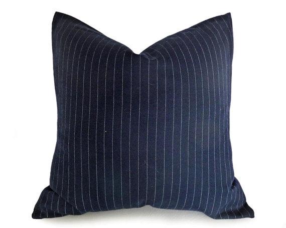 blue pillow designer etsy