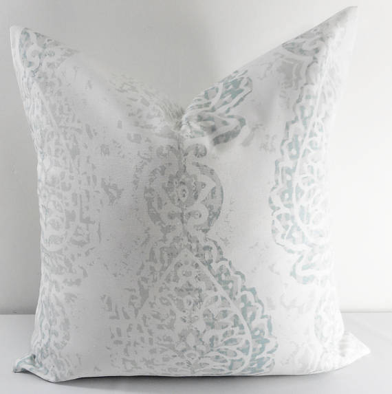 Neutral designer pillows on etsy