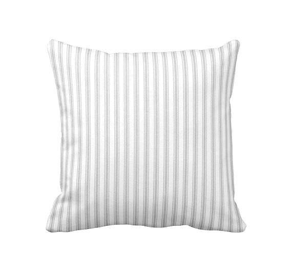 Neutral stripe pillow on etsy