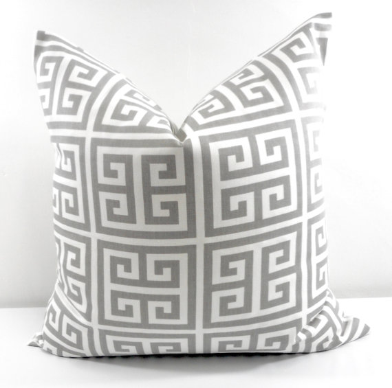 Neutral designer etys pillows greek key