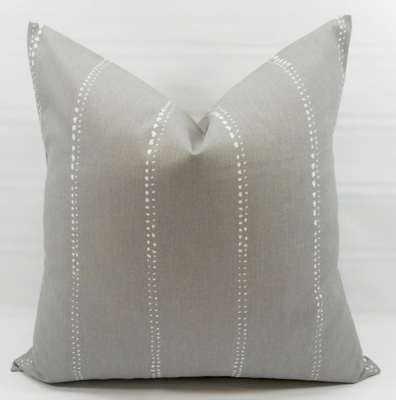 Designer gray pillow on etsy